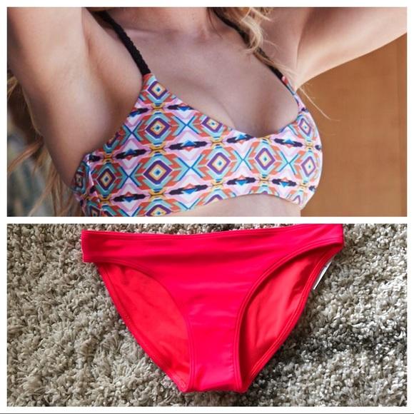 9aabb60ba7d5cb Me To We Braided Strappy Back Bralette Bikini